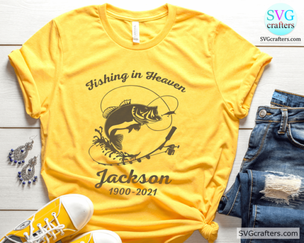 Download Personalize Fishing In Heaven Svg Fishing Svg Lake Svg Svgcrafters